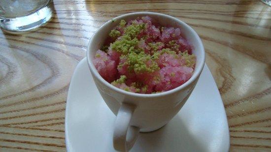Nobu Next Door: ice cream and grated sorbet