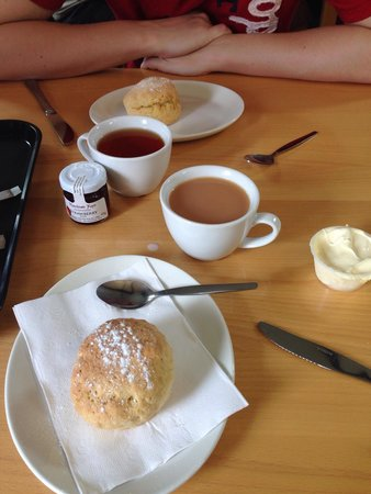 Lydford Gorge: Cream tea at the cafe