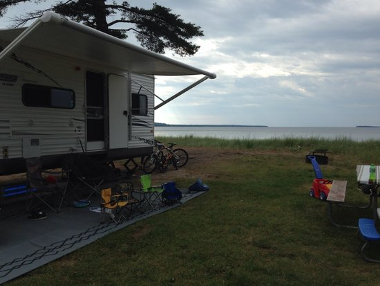 Munising Tourist Park Campground: Campsite