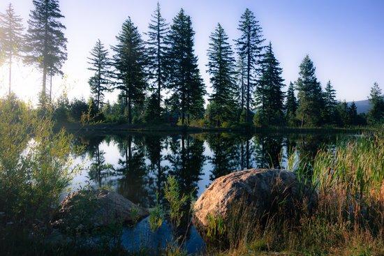 Suncadia Resort: Little lake for rowing near fitness center