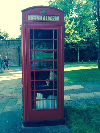 Sunningdale Park: Phone box by the bed rooms