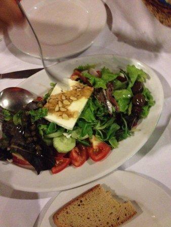 Nireas: Greek salad with feta cheese