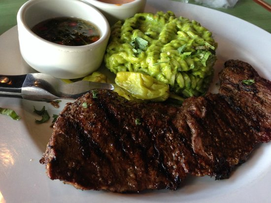 Sabor Latin Bar & Grill: CHURRASCO STEAK with Green Chili Mac & Cheese