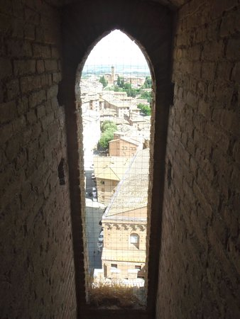 Torre del Mangia: View on the way up