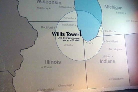 Skydeck Chicago - Willis Tower : the map