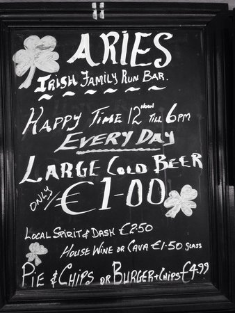 Aries Bar & The Gallipot Restaurant: Fantastic prices
