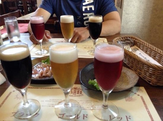 Satsuma Shuzo Brewery Meijigura : いも焼酎ビール飲み比べ
