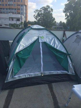Overstay TLV Hostel: Private tent