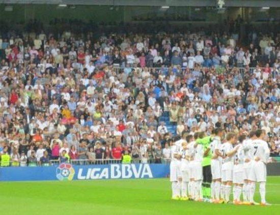 Estadio Santiago Bernabéu: 試合前