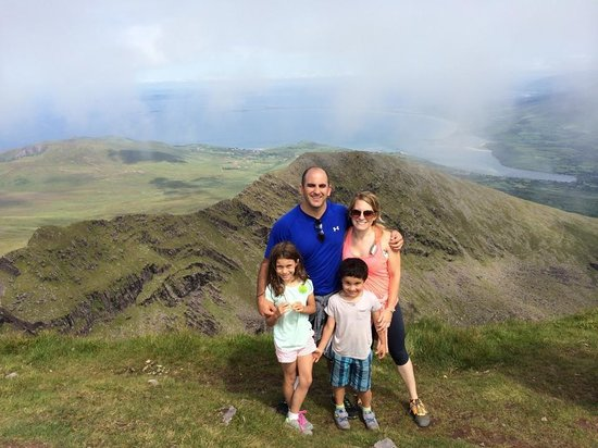 Milltown House: Top of Mt. Brandon - approx. 6 mile hike that our 8 & 5 year olds did on their own!