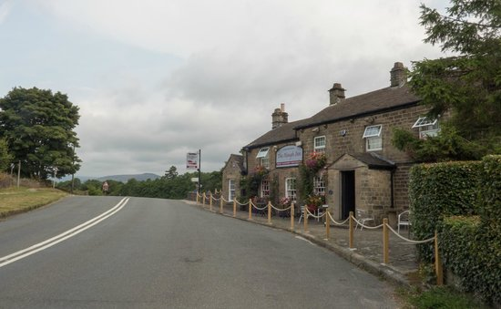 The Plough Inn: View from along the road