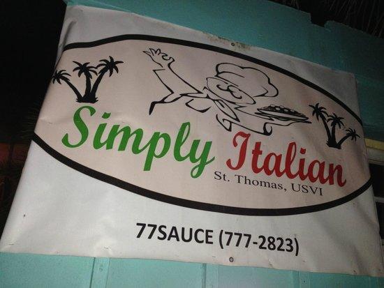 Simply Italian: Sign