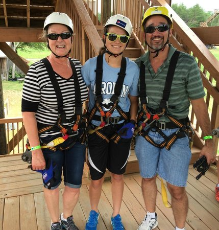 Kersey Valley Zip Line: Vacation with our granddaughter Micaela