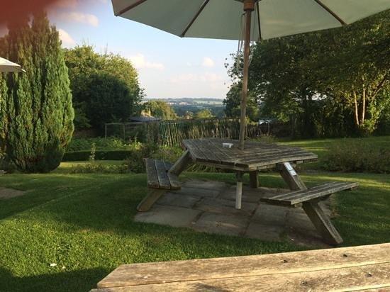Horse and Groom: view across kitchen garden