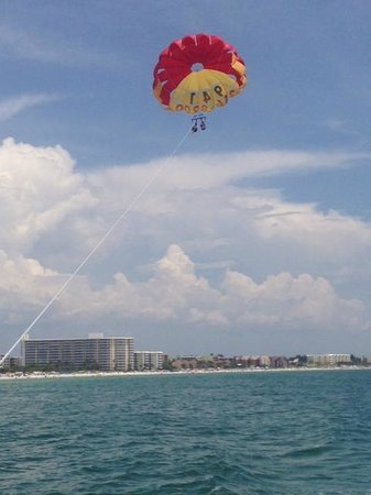 terrific time on the water with Parasail siesta