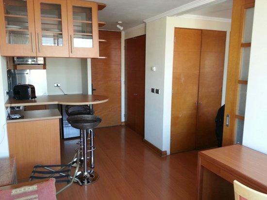 RQ Providencia: Sala e cozinha