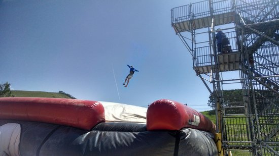 Crested Butte Mountain Resort: Bag jump at the bottom of the resort winter and summer!!
