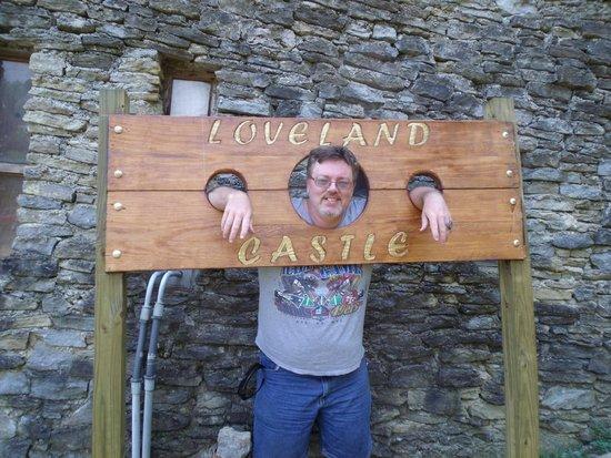 Loveland Castle: the stocks