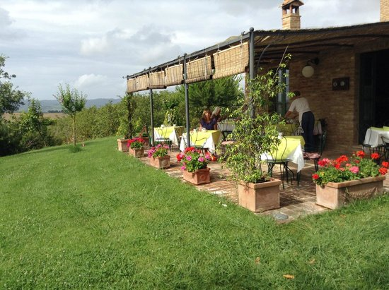 Podere Salicotto: View of breakfast patio