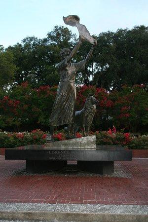 River Street Savannah: The Waving Girl