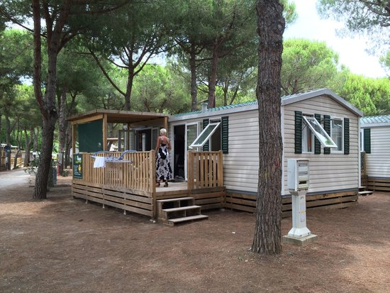 Orbetello Camping Village: Beautiful 7 person caravan. Well equiped and nicely decorated.