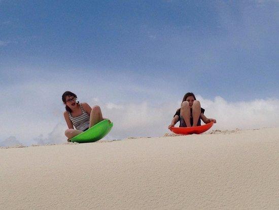 White Sands National Monument: Sledding on the dunes.