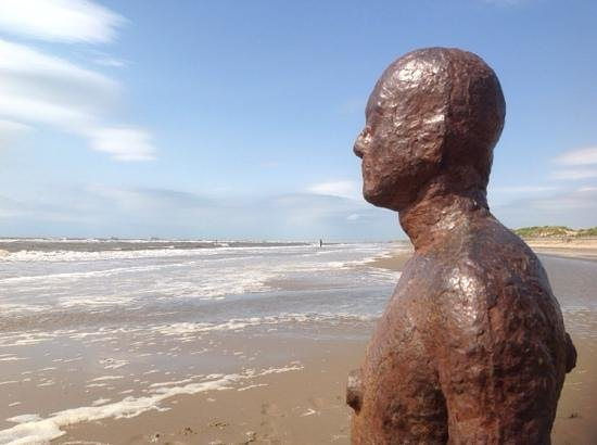 Antony Gormley's Another Place: just one of the amazing sculptures on Crosby Beach of 100