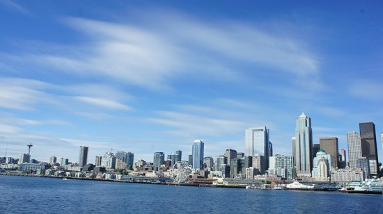 View from the ferry to Alki Beach