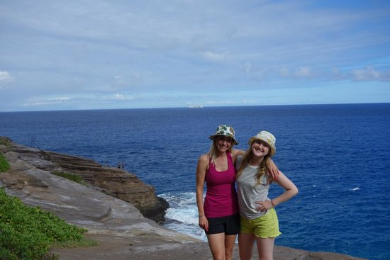 Hawaiian Escapades - Private Tours : Me and my sis at the cliff.