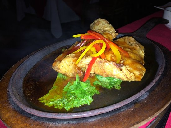 Coconut Bay Beach Resort & Spa: Sizzling Fish Dish at Silk