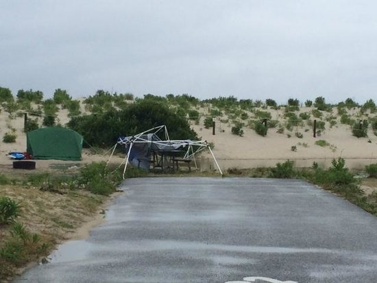 Assateague State Park Camping : Campsite across from us after storm