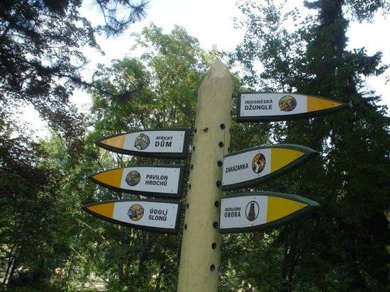 Prager Zoo: señales de orientacion
