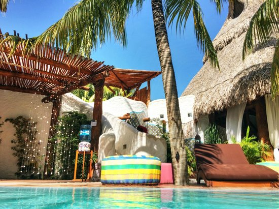 Holbox Hotel Casa las Tortugas - Petit Beach Hotel & Spa : View from pool