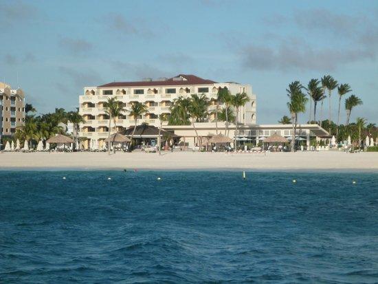 Bucuti & Tara Beach Resort Aruba: A view from the sea!