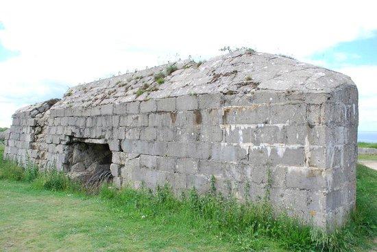 Pointe du Hoc : Damaged bunker.