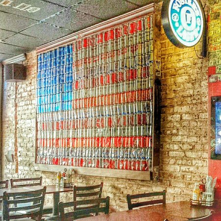 Awe Inspiring American Flag Made Of Beer Cans Picture Of Red Public Interior Design Ideas Philsoteloinfo