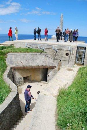 Pointe du Hoc : Entrance to main bunker.