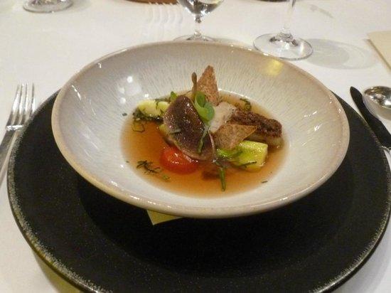 Hotel Restaurant Regis & Jacques Marcon : Tout Marcon : cèpes et aubergines