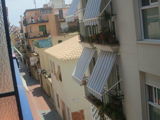 Pension La Orozca: View from tiny balcony