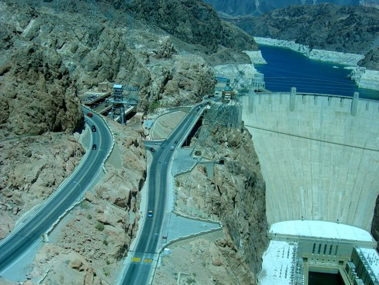 Hoover Dam: View from new bridge