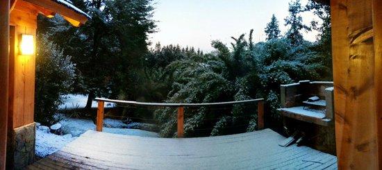 Tillka- Casas de Montaña: Vista desde la habitación al deck/parrilla