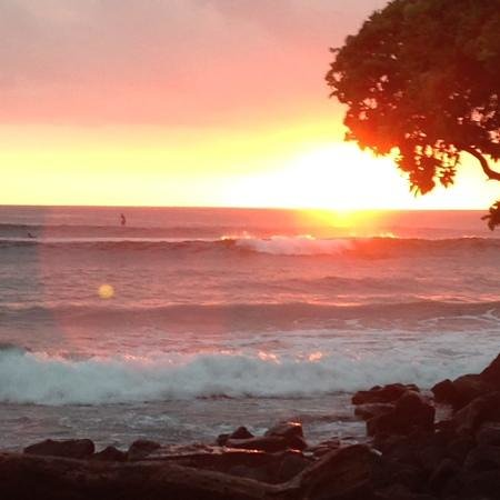 Kona Seaspray: sunset from little blue church