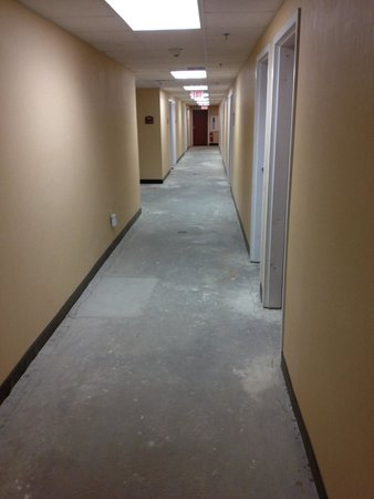 Quality Inn & Suites Hershey: Lower level hall. No carpet