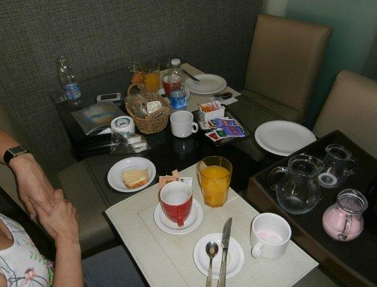 Ayres de Recoleta Plaza : Desayuno en la habitación