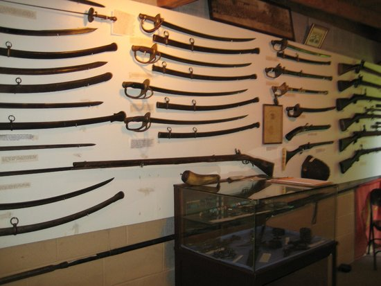 Columbus Chapel and Boal Mansion Museum: The Weapons Room: Swords and Sabers from the 18th Century to the Civil War