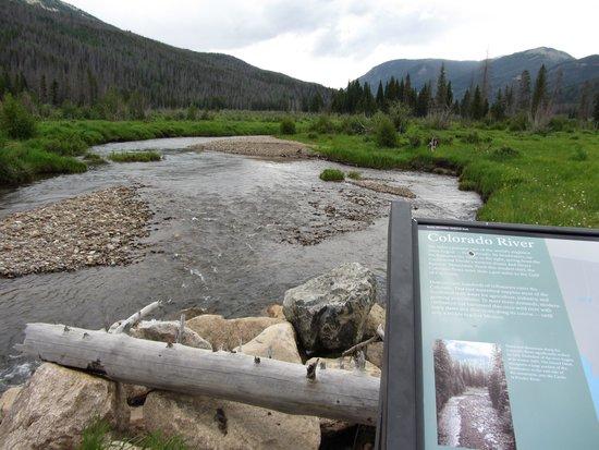 Trail Ridge Road : Colorado River at Holzwarth Historical Site