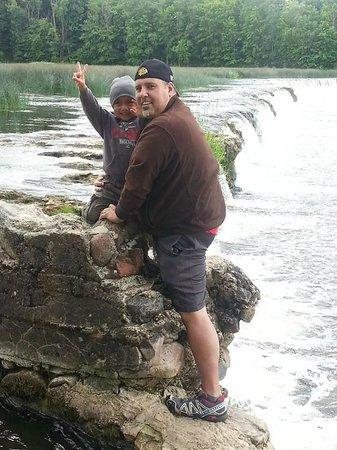 Venta Waterfall: The waterfall (Rumba) at the Venta River