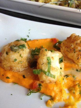 Katy's Kreek : Seared scallops with delightful accents