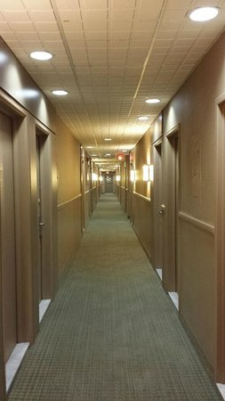 Quality Inn & Suites P.E. Trudeau Airport-Montreal: Ground Level Hotel Hallway