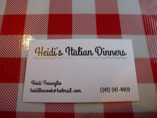 Heidi's Italian Dinners: Heidi's
